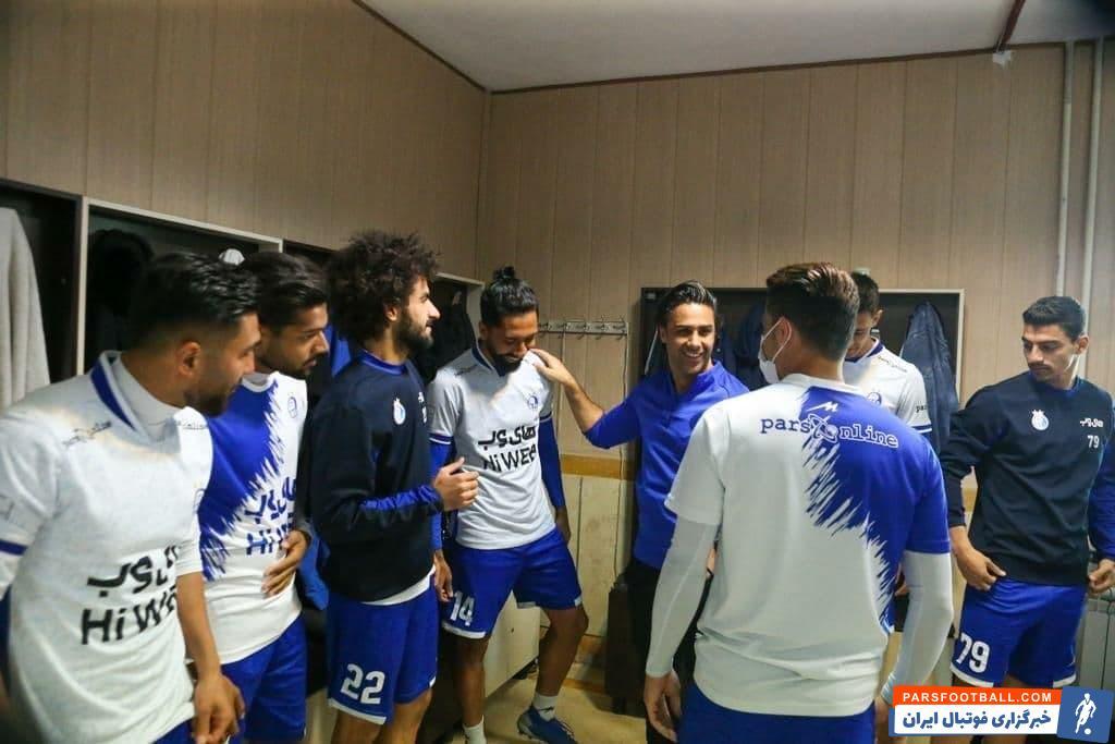 استقبال گرم بازیکنان استقلال از فرهاد مجیدی