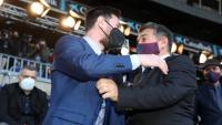 خوان لاپورتا در آغوش فوق ستاره آرژانتینی : لیونل مسی از علاقه من به خودش آگاه است