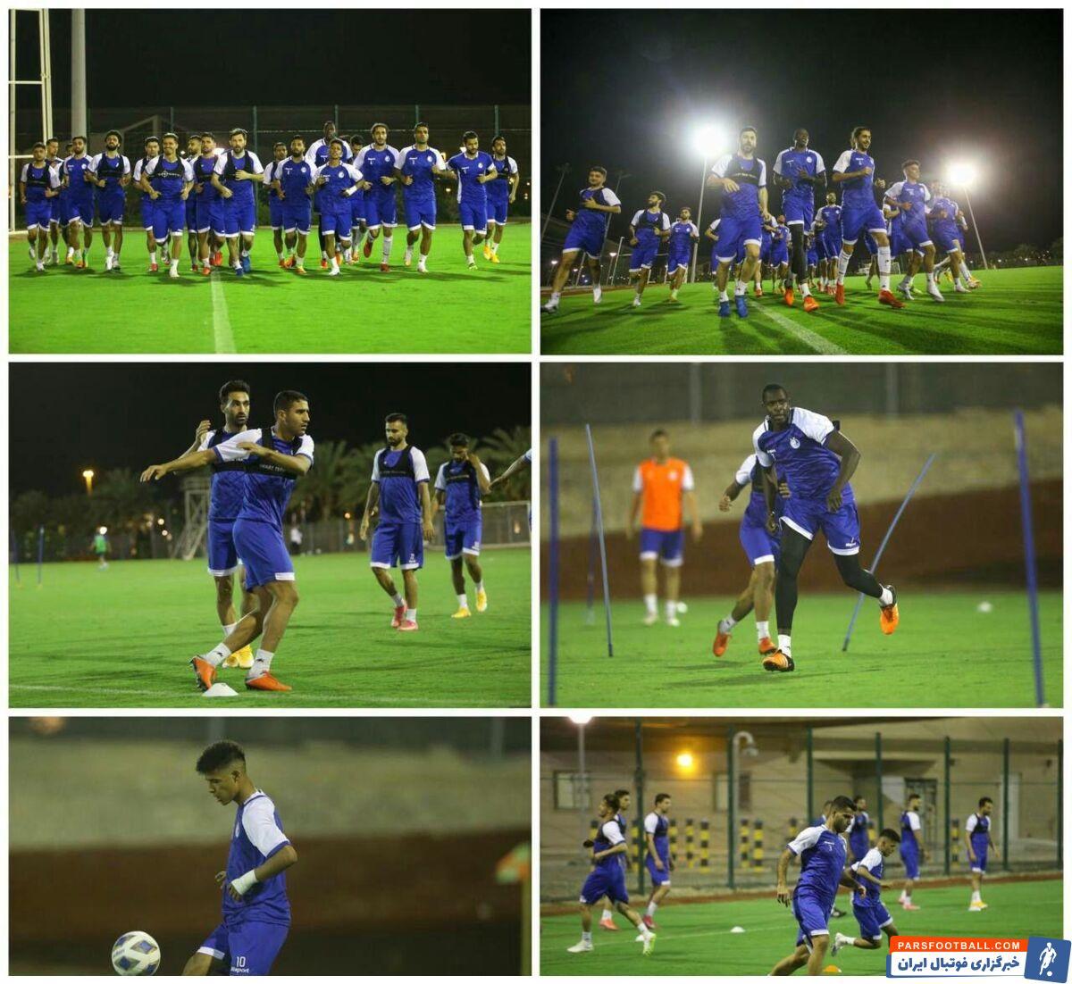 تیم فوتبال استقلال نخستین تمرین خود در شهر جده عربستان را از ساعت ۲۲:۳۰ دوشنبه (به وقت ایران) در زمین الاتحاد برگزار کرد.