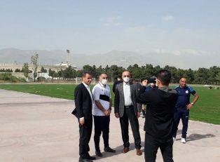 محمود فکری در مراسم معارفه خود در تمرین نفت مسجد سلیمان