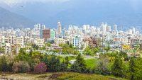 نمای شمال تهران، مناسب برای رزرو هتل در بهار