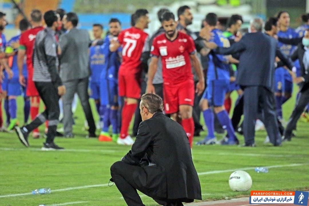 یحیی گلمحمدی با وجود جوش و خروشش در طول 90 دقیقه، در لحظه درگیری دقیقه 90+5 خود را دور از درگیریها نگه داشت.