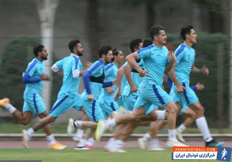 تمرین بازیکنان استقلال در آستانه دربی پایتخت