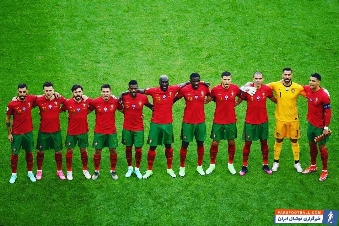 تصویر بازیکنان متحد تیم ملی پرتغال در پیام اینستاگرامی رونالدو
