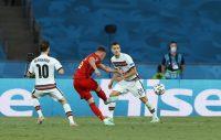 پیروزی 1 بر 0 بلژیک مقابل پرتغال در مرحله یک هشتم نهایی یورو 2020 با تک گل تورگان هازارد