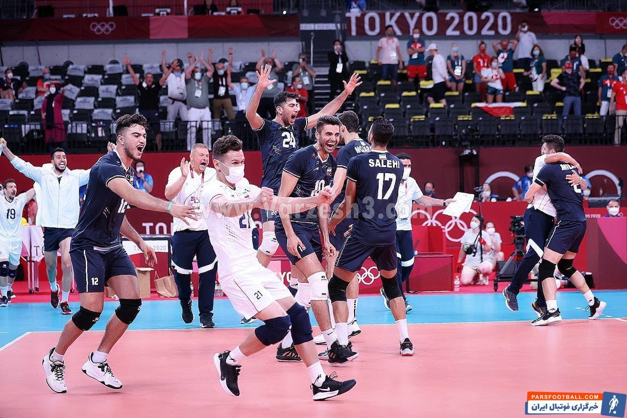 لحظه پیروزی تاریخی و 3-2 تیم ملی والیبال در المپیک و مقابل لهستان