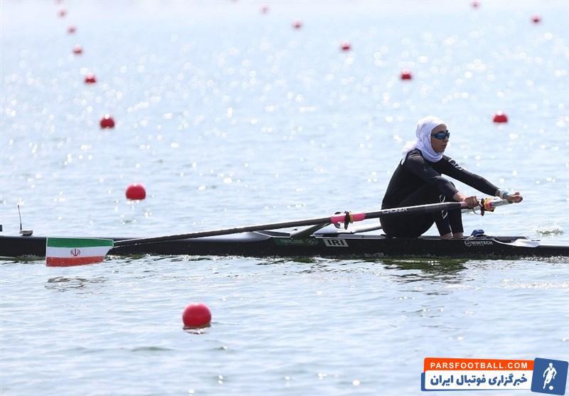 نازنین ملایی ، قایقران ایرانی که اولین نماینده ایران در المپیک توکیو بود ، موفق شد در گروه خود سوم شود و به یک چهارم نهایی بازی راه پیدا کند.