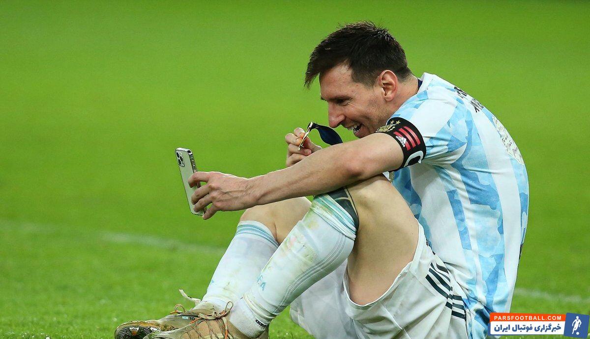 لیونل مسی پس از این که به حسرت قهرمان نشدنش با تیم ملی آرژانتین در خاک برزیل خاتمه داد، یکی از شادترین شبهای فوتبالش را سپری کرد.