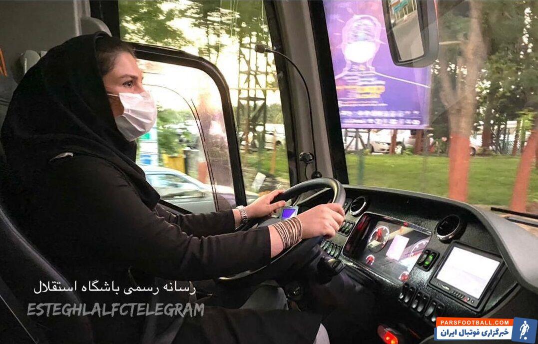 مهمترین سوژه سفر استقلالیها به قائمشهر همین رانندگی یک خانم بود که گفته میشود از طرفداران پروپاقرص استقلال هم هست.