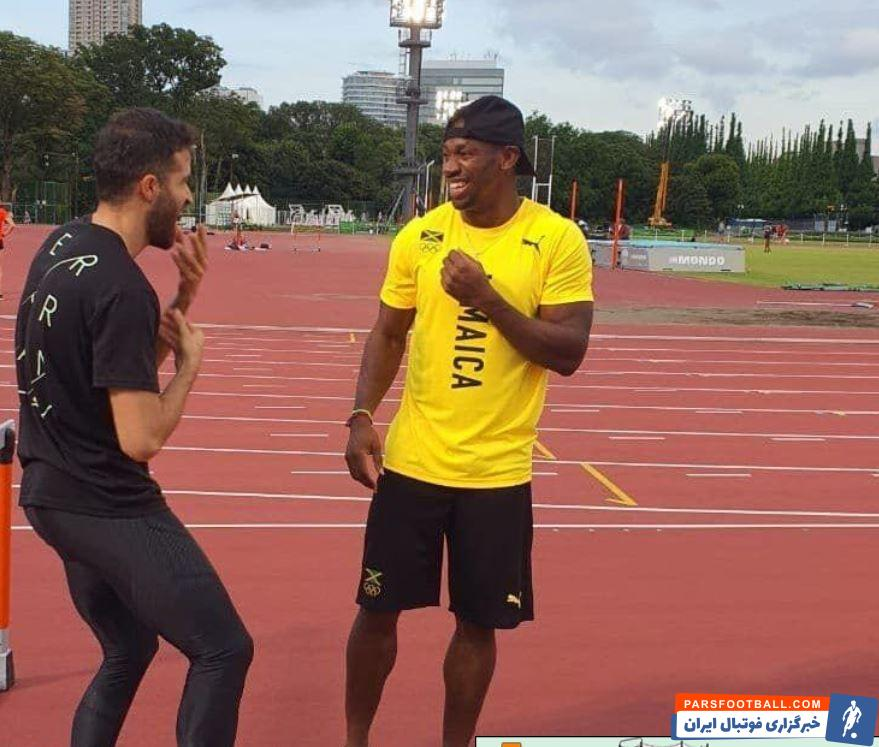 دیدار صمیمانه حسن تفتیان سریعترین مرد ایران با یوهان بلیک دومین مرد سریع دنیا در المپیک 2020 توکیو