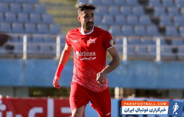 هادی محمدی، مدافع تیم فوتبال تراکتورسازی در تمرینات این باشگاه حاضر شد
