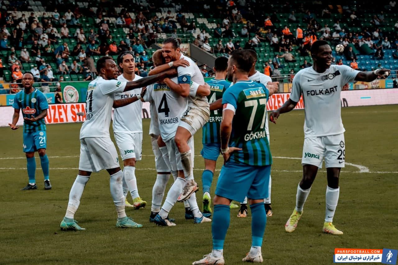 پیروزی 2 بر 1 آلتای اسپور در مقابل ریزه اسپور در هفته ششم سوپرلیگ ترکیه