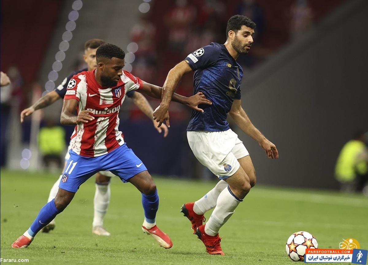 مهدی طارمی در بازی با اتلتیکو مادرید وفق به گلزنی شد اما داور آن را مردود اعلام کرد