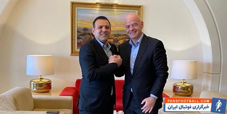 اینفانتینو با پاسخ مثبت به دعوت رئیس فدراسیون فوتبال ایران اعلام کرد که اواخر ژانویه یا اویل فوریه ۲۰۲۲   به ایران سفر خواهد کرد.