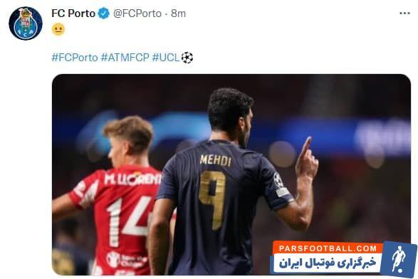 مهدی طارمی دروازه اتلتیکو مادرید را باز کرد اما این گل توسط داور مردود اعلام شد