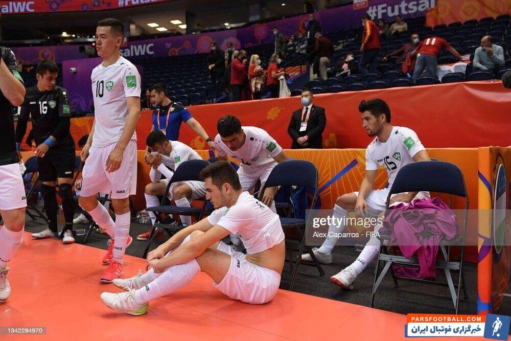 تیم ملی فوتسال در یک هشتم نهایی جام جهانی به مصاف ازبکستان رفت و در یک بازی عجیب و غریب با نتیجه ۹-۸ حریف را شکست داد و به مرحله بعد رسید.