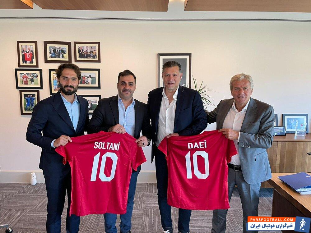 علی دایی اسطوره فوتبال ایران مهمان ویژه دیدار بشیکتاش و دورتمند بود