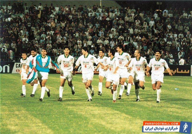 عکسی تاریخی از تیم ملی ایران در جام ملت های آسیا 1996 ؛ سرخوشی ستارگان استقلال و پرسپولیس از جشن سومی