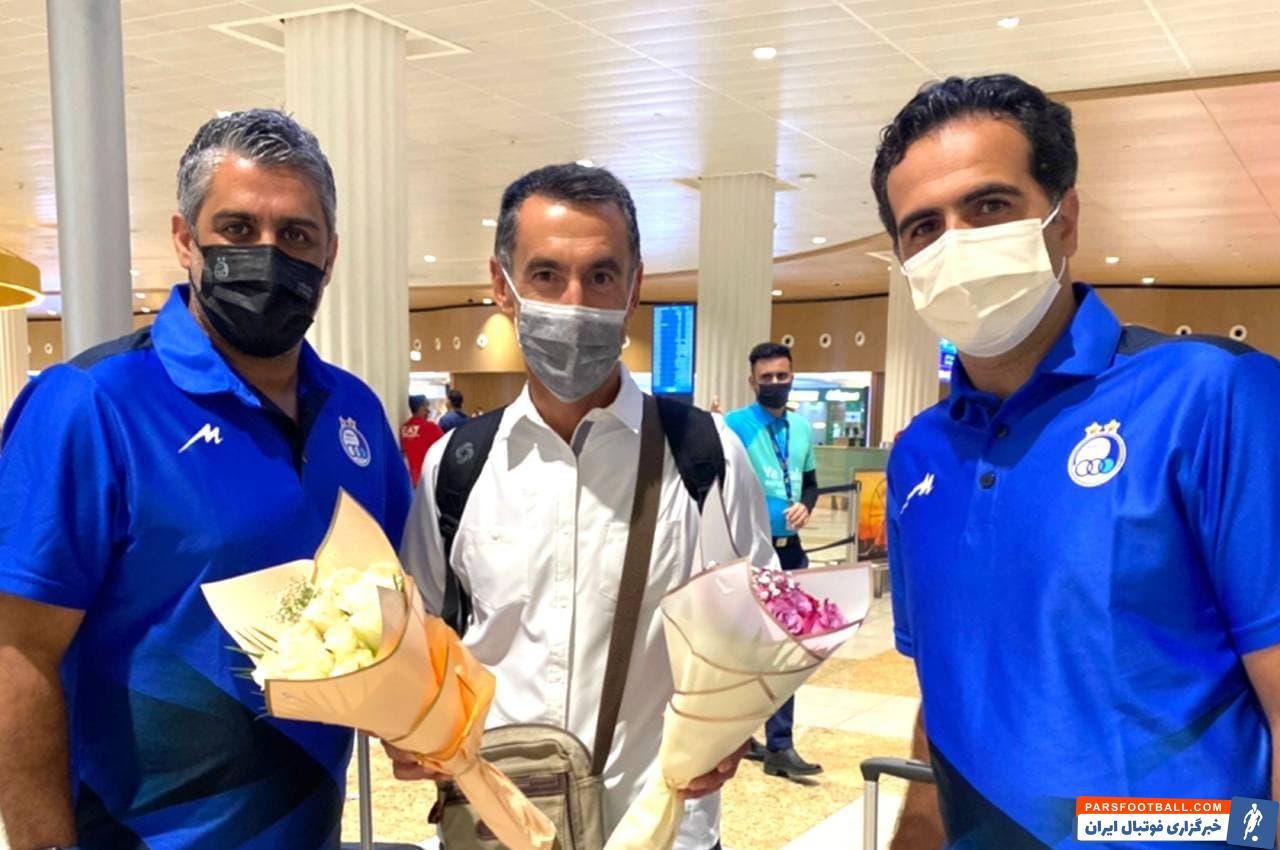 گابریله پین با استقبال استقلالی ها وارد دبی شد ؛ خوشامدگویی صالح مصطفوی و فرزاد مجیدی به مربی جدید